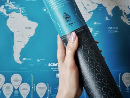 Mapa Zdrapka: prezent z logo - gadżet dla klienta.