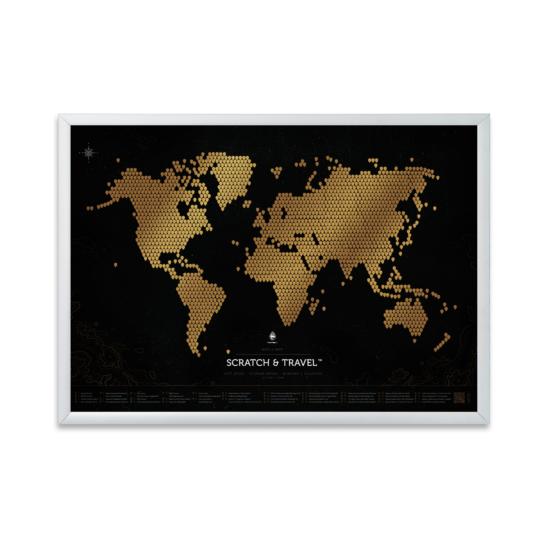 Metalowa rama do mapy