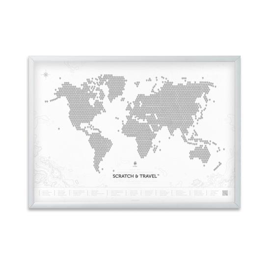 Biała mapa z ramą