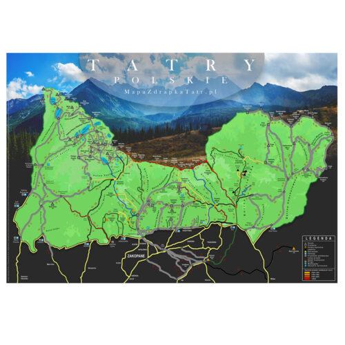 Mapa Zdrapka Tatr