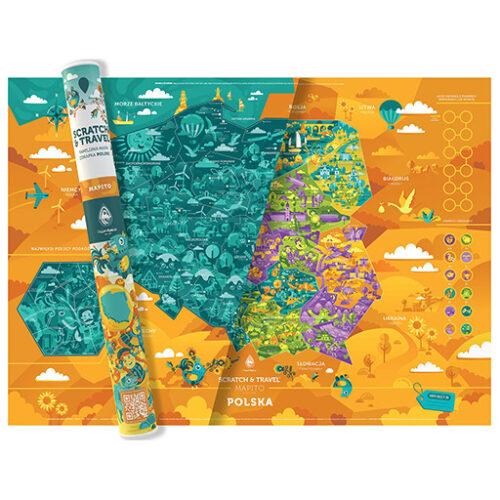 Mapa Zdrapka Polska MAPITO