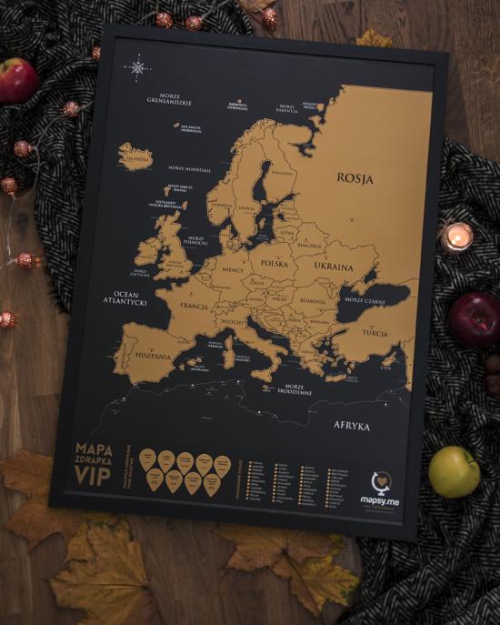 Mapa Zdrapka VIP EUROPA w jesiennej odsłonie