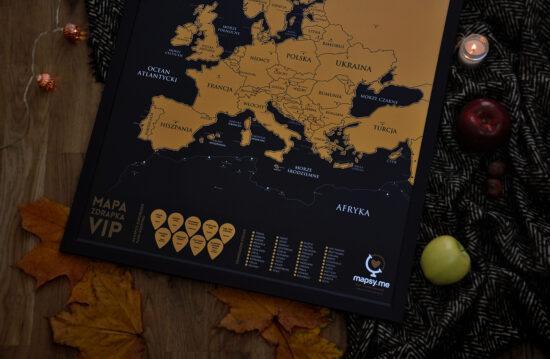 Rama do mapy zdrapki Europy