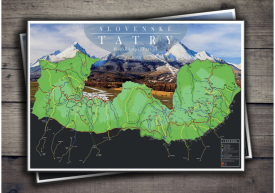 Mapa Zdrapka Tatr Słowackich