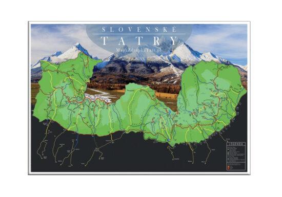 Mapa Zdrapka Tatry Słowackie