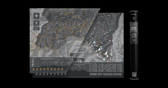 mapa zdrapka w tubie